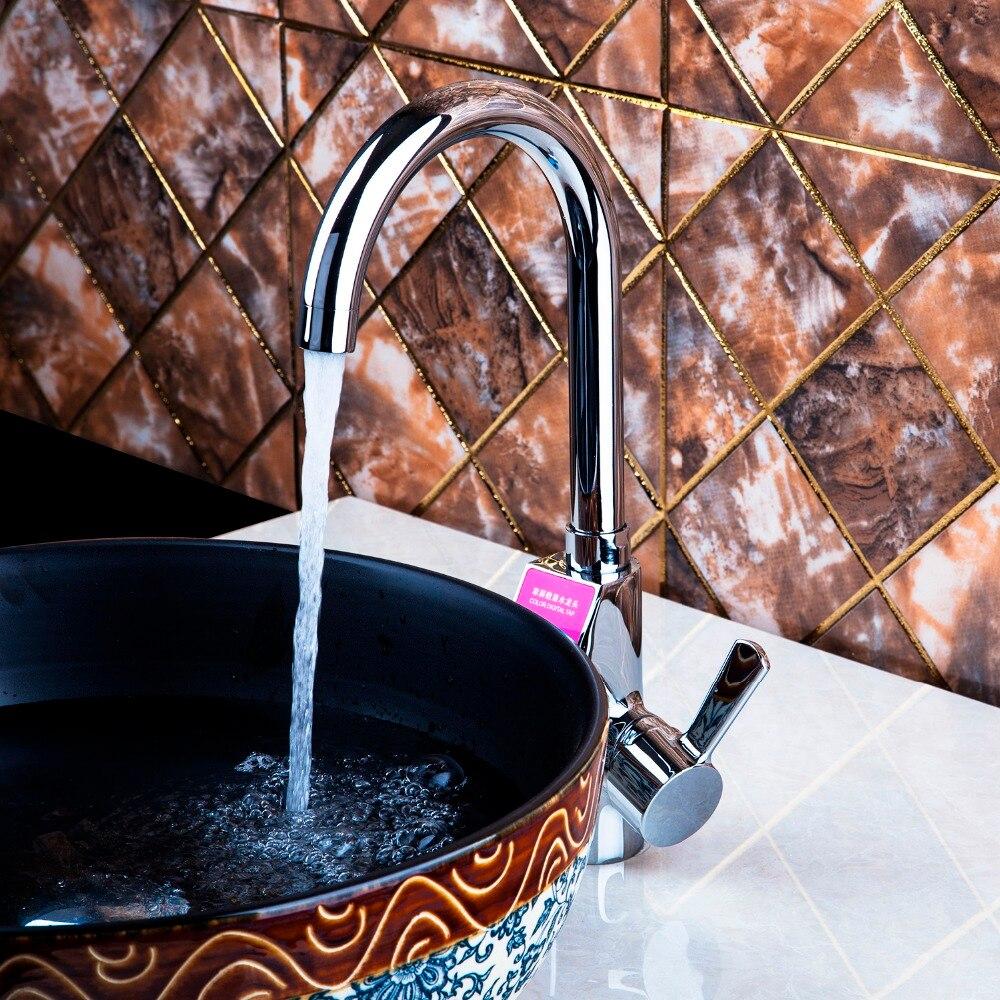Best Digital Display Swivel Faucet Chrome Brass torneira 97128 Wash Basin Sink Water Kitchen robinet Vessel