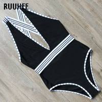 RUUHEE Brand New One Piece Swimsuit Swimwear Women Bodysuit 2017 Bandage Bathing Suit Swimming Suit For
