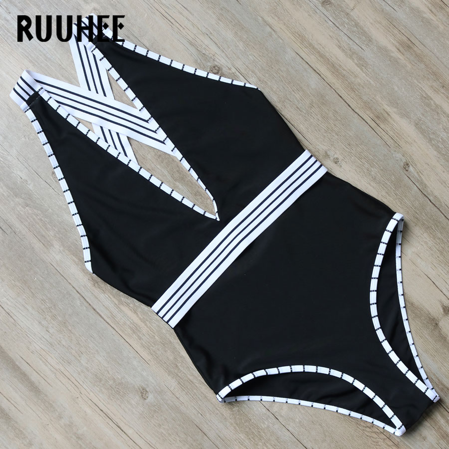 RUUHEE Brand New One Piece Swimsuit Swimwear Women Bodysuit 2017 Bandage Bathing Suit Swimming Suit For Women Biquini Monokini ruuhee one piece swimsuit swimwear bodysuit bikini set women black