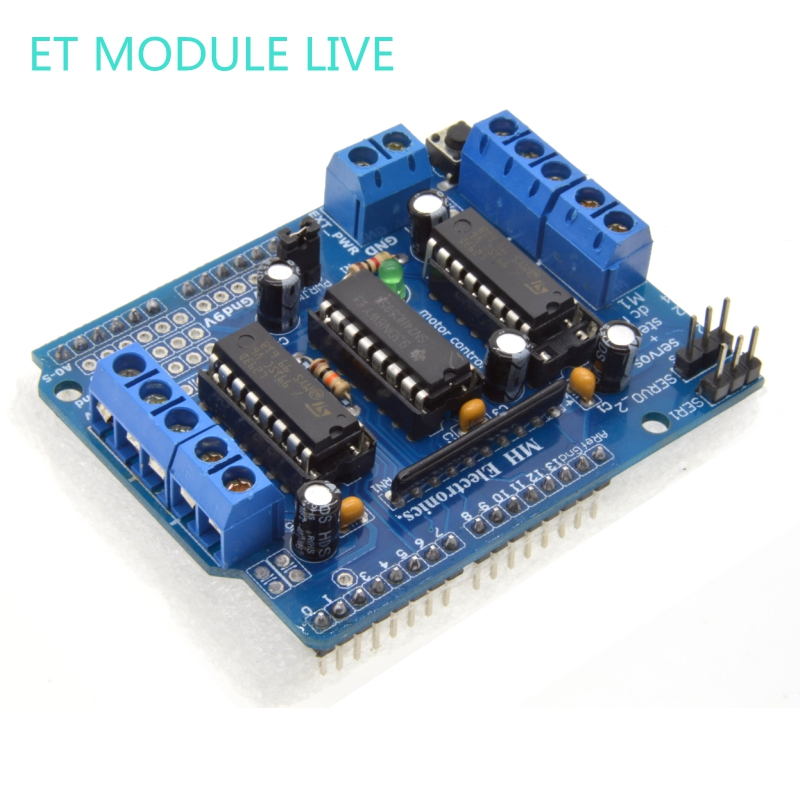 1pcs L293D Motor Drive Shield dual for arduino Duemilanove, Motor drive expansion board motor control shield цена 2016