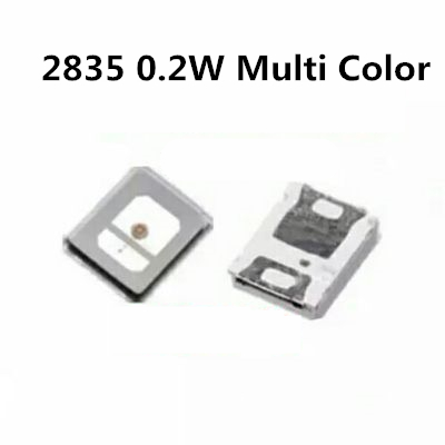 100pcs <font><b>SMD</b></font> <font><b>2835</b></font> <font><b>LED</b></font> Chip Red Light 0.2W Red Yellow Blue Green Pink SMT Surface Mounted Device Bead <font><b>LED</b></font> Light Emitting Diode image