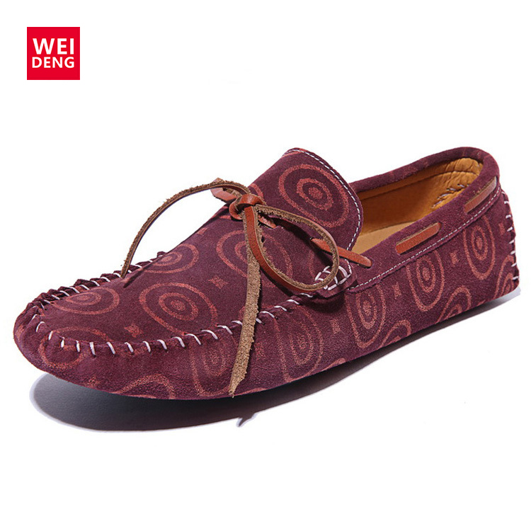 WeiDeng Genuine Leather Smoking Driver Shoes Casual Slip On Men Loafers Moccasins Flats Sapatos Masculinos Zapatos Hombre 2016 hot high quality men loafers leather round toe slip on casual shoes man flats driving shoes hombre zapatos comfortable moccasins