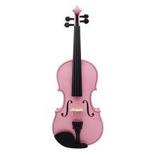 4/4 violine Geige Saiten Instrument Musical Spielzeug für Kinder Anfänger Hochwertige Basswood Körper Stahl String Arbor Kolophonium