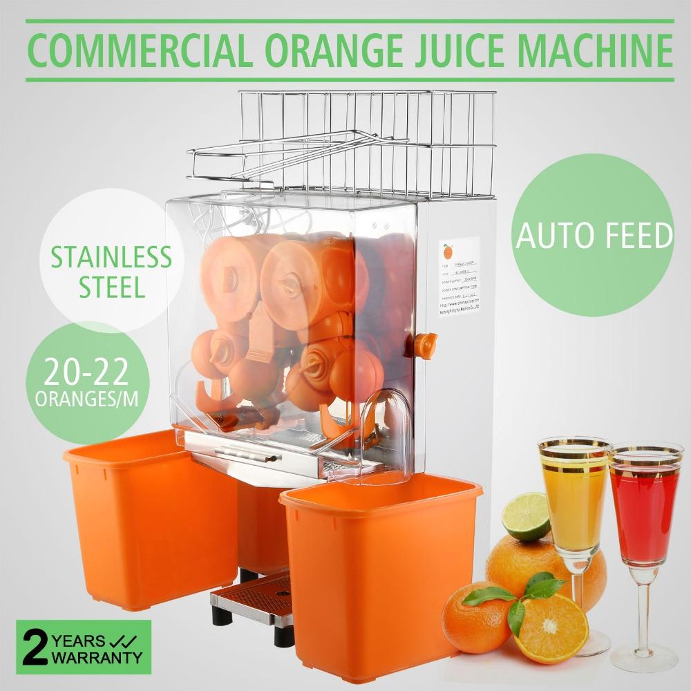 20-22 Oranges Par Minutes Commercial Juicer Machine D'alimentation Automatique Squeeze Orange Lemon Squeezer