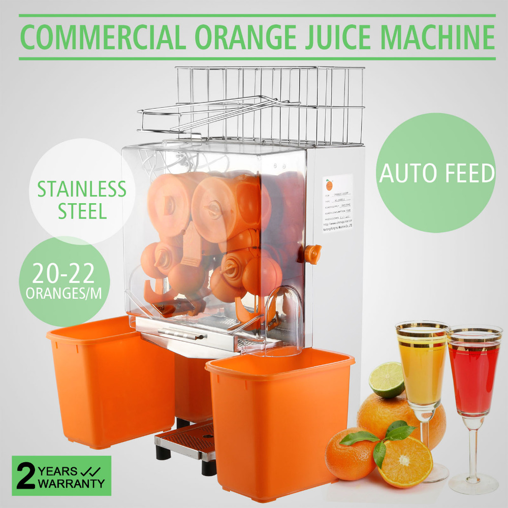 20-22 Oranges Par Minutes Commercial Juicer Machine D'alimentation Automatique Squeeze Orange Lemon Squeezer