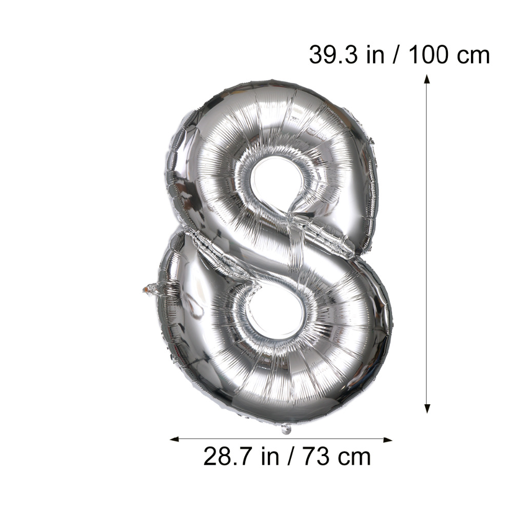 40 inch number 18 helium foil balloons birthday number 18 balloons 100 Year Anniversary Wedding Couple 40 inch number 18 helium foil balloons birthday number 18 balloons for birthday wedding anniversary decoration silver in ballons accessories from home