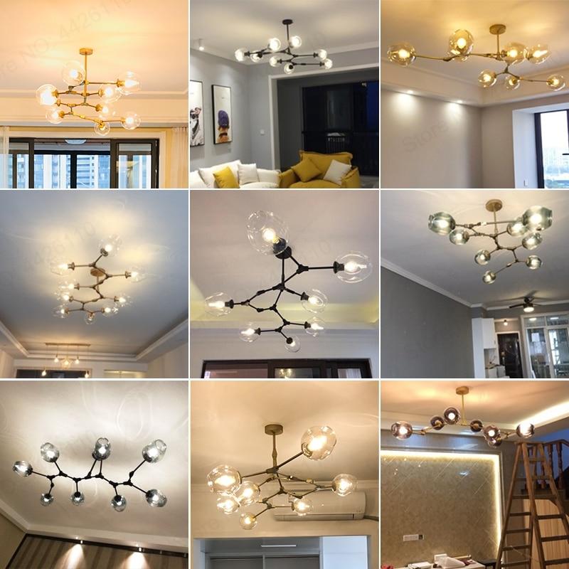 BLUBBLE nordique moderne pendentif lumières couleur verre lampes Pedant Art décoration luminaires Bar salle à manger cuisine salon - 6