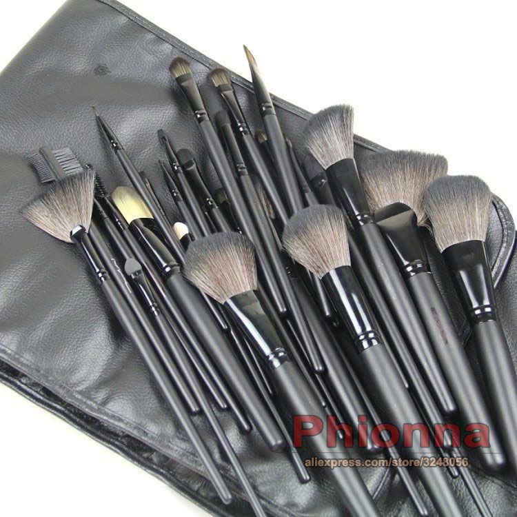 New Professional 24Pcs Makeup Brushes Kit Cosmetic Makeup Brushes Set with Black Case