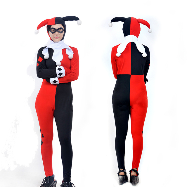 Super Villain Batman Dr. Harley Quinzel Cosplay Ladies Women Halloween Fantasia Costumes For Women  sc 1 st  AliExpress.com : halloween villain costumes  - Germanpascual.Com