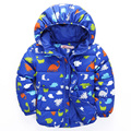2017 Winter Fashion Cartoon Jackets for Boys And Girls  Small Child Thickened Cotton Hooded Jacket