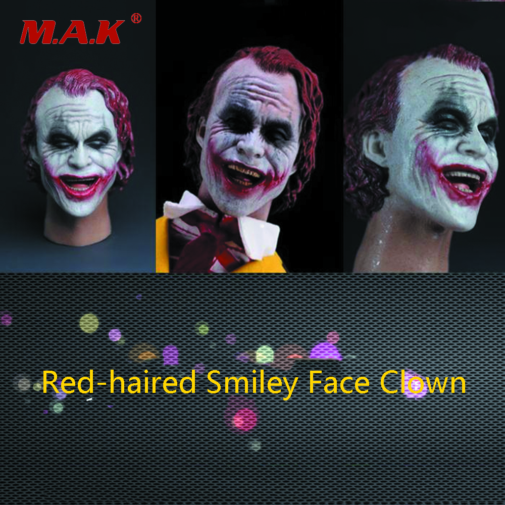 1:6 Scale Male Red-haired Smiley Clown Joker Head Carving for 12 Action Figure Model Fans Gift Accessories in Stock1:6 Scale Male Red-haired Smiley Clown Joker Head Carving for 12 Action Figure Model Fans Gift Accessories in Stock