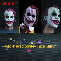 1:6 Scale Male Red haired Smiley Clown Joker Head Carving for 12 Action Figure Model Fans Gift Accessories in Stock