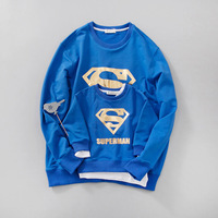 Family Matching Clothes Parent Kid Look Superman T Shirts Autumn Father Mother Kids Cartoon Outfits New