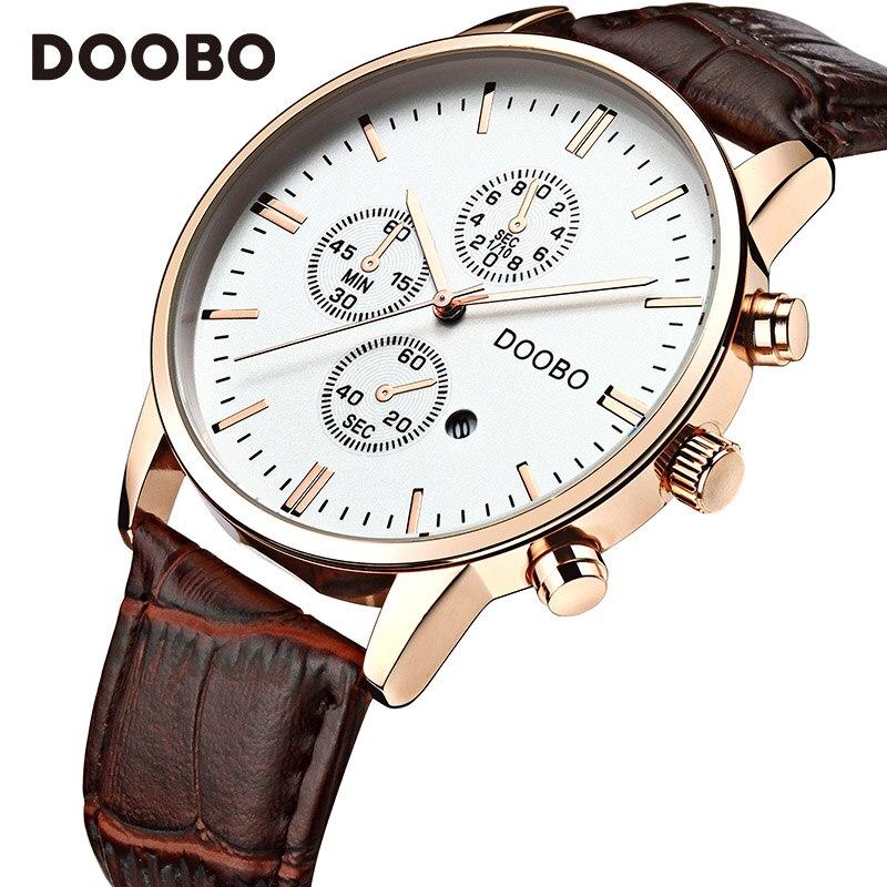 Topmerk Luxe Quartz Horloge Heren Business Casual Lederen Band - Herenhorloges - Foto 4