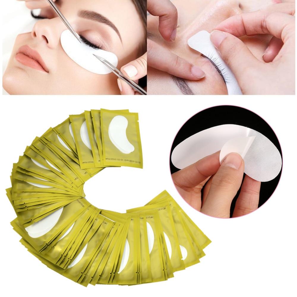 50Pairs Set Eyelash Extension Hydrogel Under Eye Gel Mask Patch Sticker Tape Planting Grafted Eyelash Maquiagem