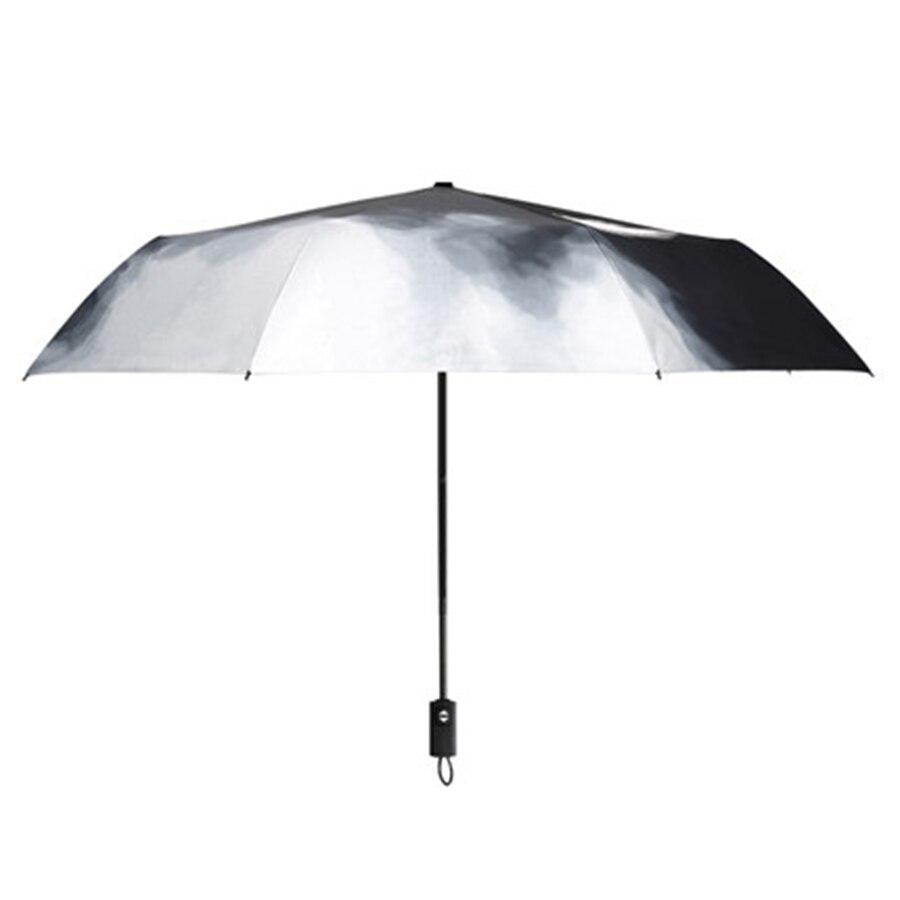 Mini parapluie pluie femmes automatique Parasol Corporation parapluie hommes hommes cadeau clair Uv paraguay pli Mujer poche plume 771 - 5