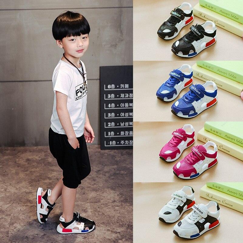 Лето 2018 Новинка детская чистая Тканевая обувь кожаные сандалии для мальчиков пляжная обувь для девочек