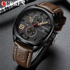 Image 1 - CURREN 8324 Relogio Masculino กีฬานาฬิกาผู้ชายแบรนด์หรูผู้ชาย Chronograph วันที่ทหารนาฬิกากันน้ำ