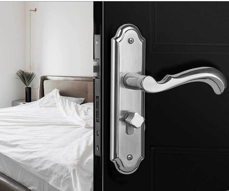 mortise lock knobs and handles door lock stainless steel Modern Style Mute anti-theft solid lock hardware locks new quality practical steel lock body 304 stainless steel anti theft lock outer door lockset dead bolt locks
