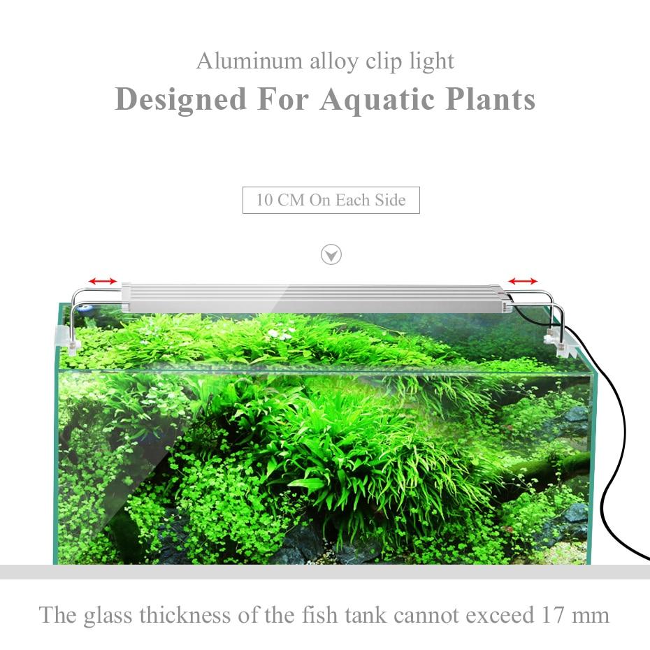 50-70CM RGB SMD 5050 Aquarium LED Lighting Extendable Bracket Clip On Marine Led Light For Fish Tank Lamp For Aquarium Light Led (6)