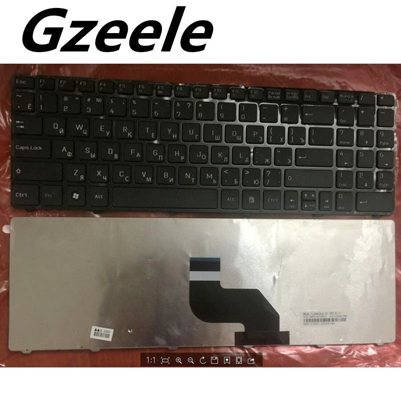 GZEELE Russian Keyboard For MSI CX640 CR640 CR643 CX640DX A6400 RU Laptop Keyboard Black V128862AS1