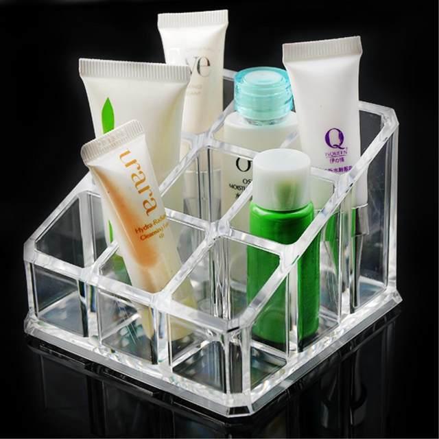 Online Shop WITUSE 9 Grids Acrylic Makeup Organizer Lipstick Storage