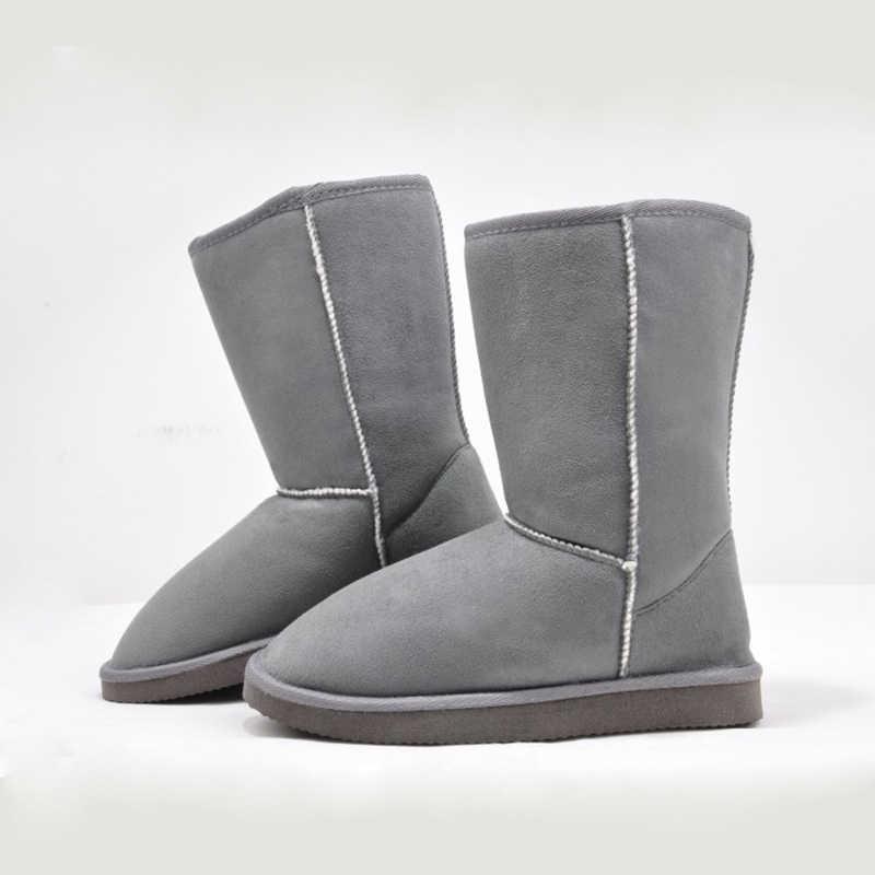 2019 Bán Euro35-40 Ngắn Trơn Dịu Nhẹ Bắp Chân Mềm Mại Đàn Chống Trơn Trượt Ủng Nữ Mùa Đông giày Nữ Tuyết Giày