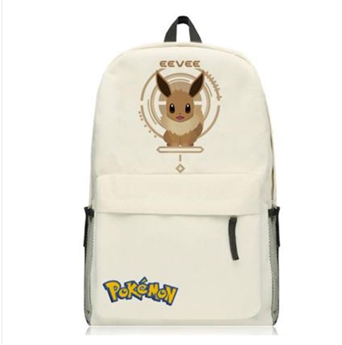GAME Pokemon GO Pocket Monster pikachu EEVEE LAPRAS backpack Canvas Shoulder bag School Bag Travel bag Rucksacks