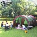 Marca YUETOR 480*310*210 CM Tela de Fibra de vidro Grande Túnel de Camada Dupla Barraca de Camping 8 Pessoas Da Família Festa tenda
