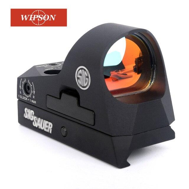 WIPSON ROMEO3 1x25 Mini Reflexvisier Shotgun 3 MOA Dot Absehen Red Dot Anblick-bereich Picatinny QD Mount für MSR Gewehre Carbines