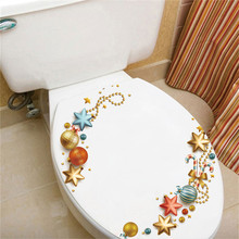 1PC PVC waterproof Toilet sticker Decorative Painting BedroomLiving room TV Wall Decoration Stickers Mural