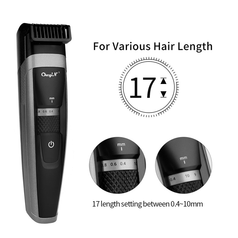 USB Quick Charge Electric Hair Clipper Men Pro Cordless Hair Trimmer Low Noise Hair Cutting Machine Beard Trimmer Shaving RazorUSB Quick Charge Electric Hair Clipper Men Pro Cordless Hair Trimmer Low Noise Hair Cutting Machine Beard Trimmer Shaving Razor