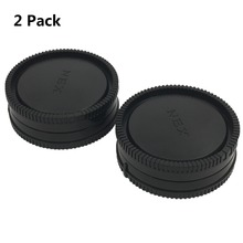 LXH 2Pack 전면 카메라 바디 캡 및 후면 렌즈 캡 덮개 - Sony E-Mount NEX Mirrorless Sony Alpha 용 A6500 a5100 a3000 A7R2 A7R A7