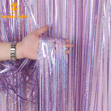 2/3/4M Rose Gold Glitter Wedding Backdrop Curtain Upgrade Foil Fringe Tinsel Birthday Party Decoration Props