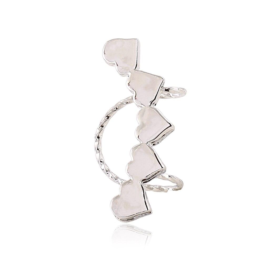 Didnot Heartshaped Simple Clip Earrings Left Right Personality Earring  Clip Jewelry Ear Cuff Earring