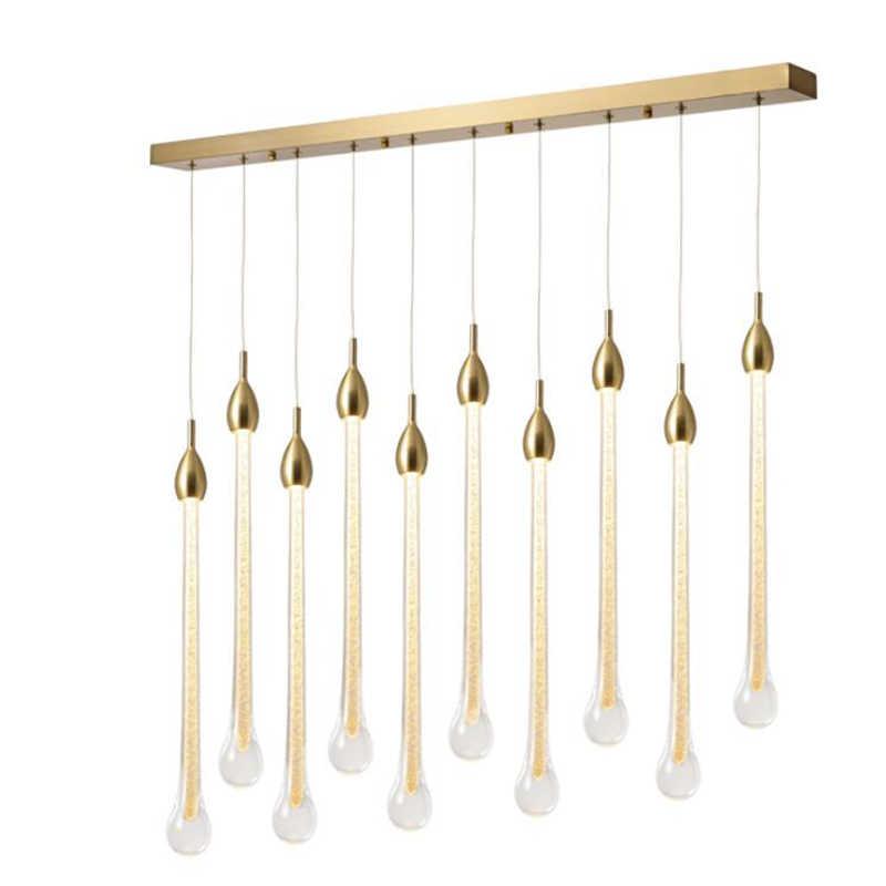 K9 Хрустальная люстра вилла Круглая Лестница 3 Вт светильник светодиодный светильник металлическая люстра DIY подвесной светильник Manggic освещение