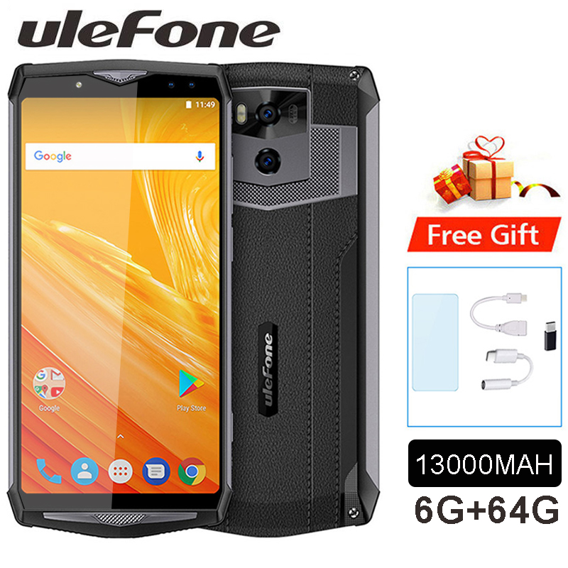 "Ulefone Power 5 13000mAh Mobile Phone Android 8.1 6.0"" FHD MTK6763 Octa Core 6GB+64GB 21MP Face ID Wireless charge 4G Smar"