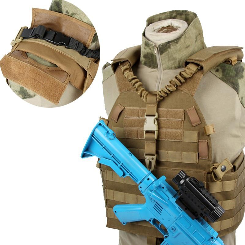 Ajustável militar tático arma sling duplo-uso único ponto de liberação rápida rifle alça de ombro caça airsoft m4 ar15