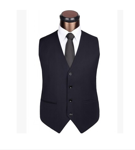 2018 Men's Clothing Male Fashion Slim Chaleco Hombre Gentlemen Blaser Coletes Masculino Groom Men Suit Vest