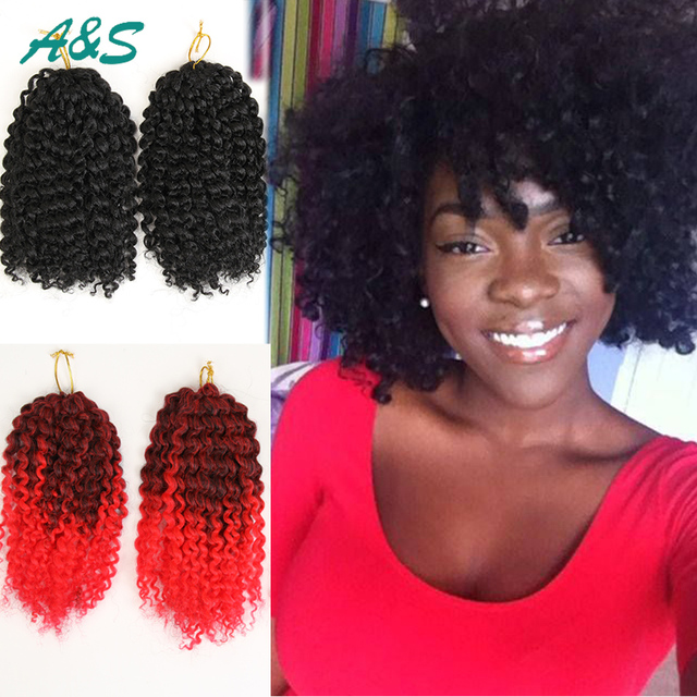 Charming Kinky Curly Synthetic Hair Weave Afro Hair Weft Extensions