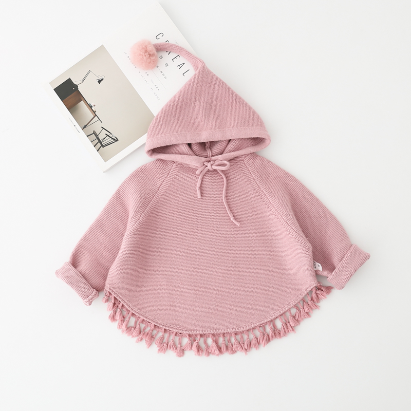 baby girls jacket Autumn girl sweater font b children b font hooded long sleeve cuffs bat