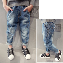 Three-14 Yrs Baby Boys Jeans Spring Fall Winter Fashion Design Light Kids Pants All Matchs Chlidren Demin Trousers Baby Boy Clothes