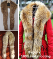 Autumn and winter women's Lengthen fur collar fox fur raccoon fur collar faux fur collar muffler thicken scarf cape Shawl 140cm