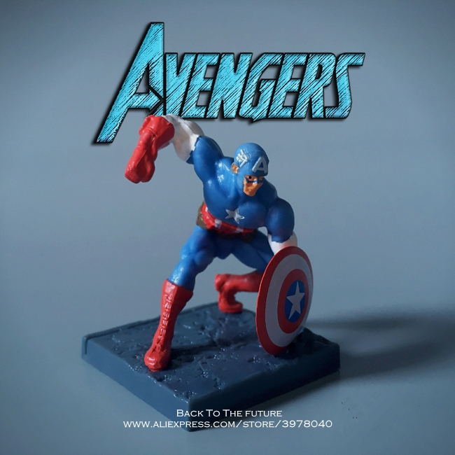 Disney Marvel Avengers Captain America 6cm Action Figure Anime Mini Decoration PVC Collection Figurine Toy model for children disney marvel avengers spiderman 14cm action figure anime mini decoration pvc collection figurine toy model for children gift