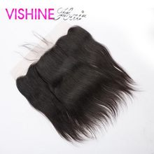 Vishine Malaysian Virgin Hair Straight Lace Frontal Closure 13X4 inch Lace Closure Ms Lula Hair Good Quality Lace Closure