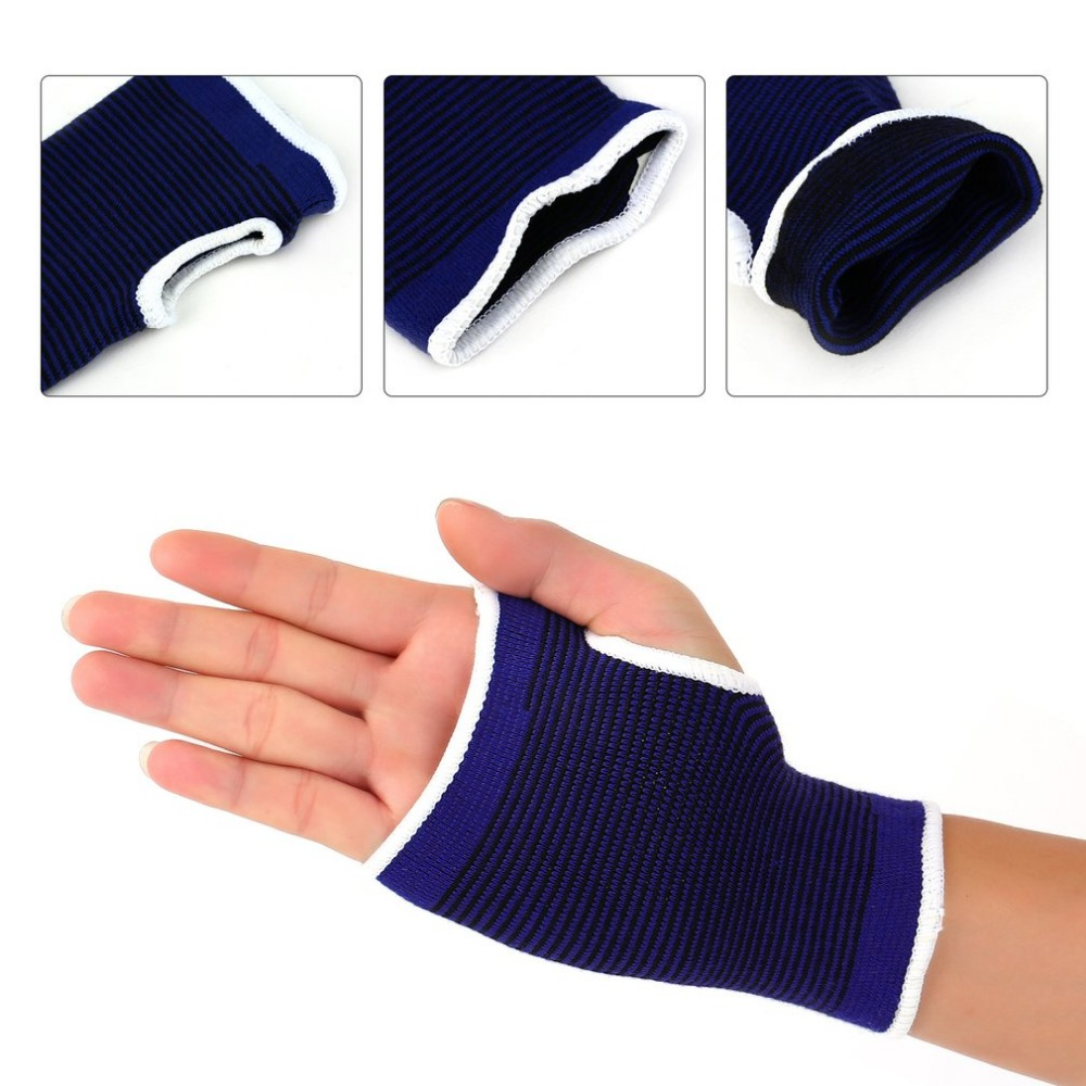 1pcs Polyester Elastic Gym Sports Support Wrist Gloves Anti-slip Hand Palm Gear Care Brace Breathable Guard Protector New Style