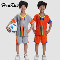 Kids Boys Sport Sets 2017 Summer Children Clothes Sets Boys Short Sleeve Football Uniform Training Clothes