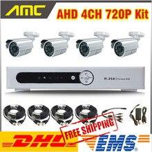 New AHD Hybrid DVR System 4ch 720P DVR Camera CCTV System 4ch Channel CCTV Kit Home video surveillance DVR Security system