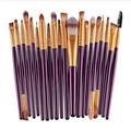 20pcs 6 colors Soft Amazing Eye Makeup Brushes Professional Cosmetic Make Up Brush Set UK