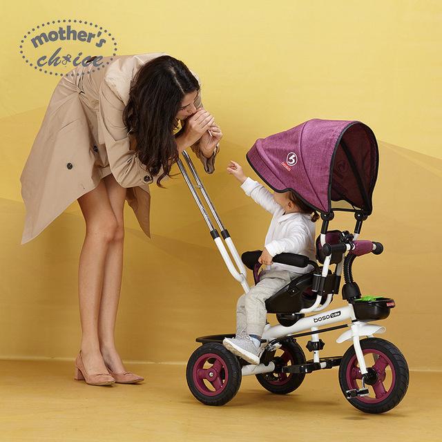 Alta qualidade carrinhos de bebê triciclo 0-6 anos usam MCS201 4-6Y montar o triciclo do bebê carrinho de criança Frete grátis
